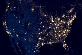 usa city lights cosmos view