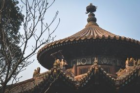roof of traditional temple, china, beijing