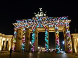 brandenburg gate in festival of light
