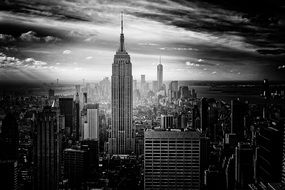 black and white picture of new york city