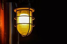 lantern lamp halloween dark yellow light