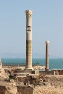 photo of antique columns and ruins in Tunisia