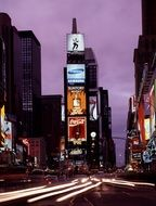 times square new york city night view