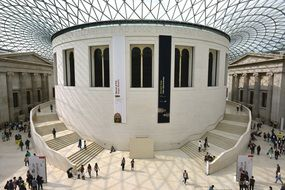 interior of british museum in london