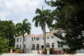 old building of shangri la hotel in park, usa, Florida, Bonita Springs
