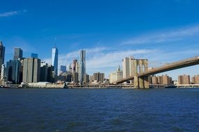 manhattan downtown brooklyn bridge urban