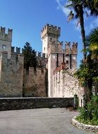 medieval towers of the Scaliger Castle, italy, Sirmione