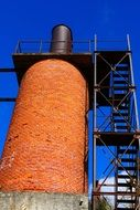 industry brick chimney