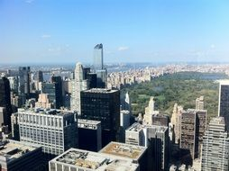overlooking central park new