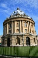 old building of university library, uk, england, oxford