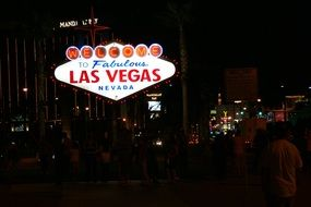 las vegas welcome neon sign usa