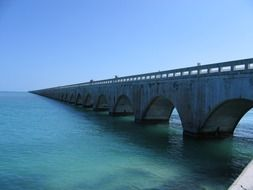 great bridge over the sea, Florida