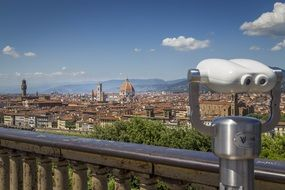 viewpoint at old city in beautiful landscape, italy, florence