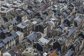 france normandy city homes roofs gray colour