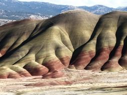 painted hills rock formations, usa, oregon, John Day Fossil Beds National Monument