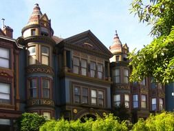 beautiful victorian house, usa, california, san francisco