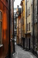 stockholm narrow old town sweden alley