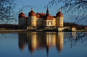 Moritzburg Castle is a baroque palace in Moritzburg