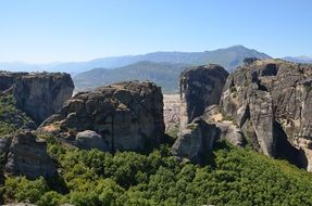 meteora cliff orthodox monastery attraction in Greece
