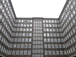 Sprinkenhof, brick office building, germany, hamburg