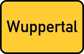 wuppertal yellow town sign