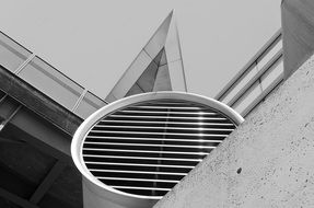 abstract geometric architecture of modern building