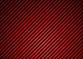 red background with dark diagonal stripes