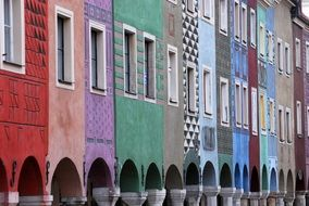colorful buildings in poznan