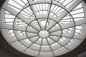 ceiling window in entrance hall of art gallery, germany, munich