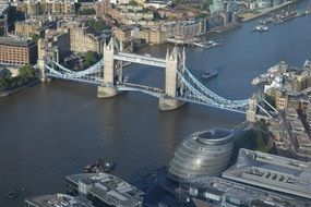urban tower bridge london river england uk