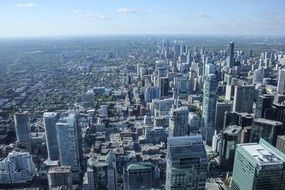 aerial view of modern city, canada, toronto