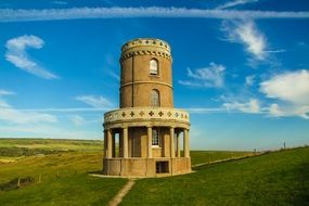 clavell tower at blue sky, uk, england, dorset