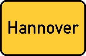 hannover yellow town sign