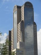 he Comerica Bank Tower at sky, usa, texas, dallas