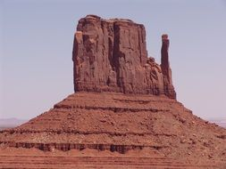 The Mitten, red rock formation in monument valley, usa, utah, arizona