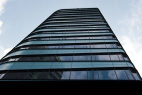 bottom view of on the high glass twintower