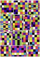 geometric seamless pattern with colorful rectangulars
