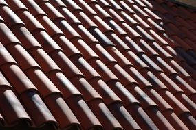 ted roof tiles building texture
