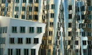Unusual city building architecture