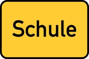 back to school, yellow traffic sign