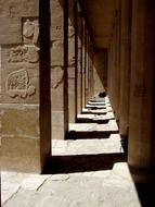 row of ancient columns