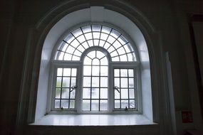 old half-round window