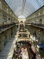 passage in old beautiful shopping centre, russia, moscow, GUM