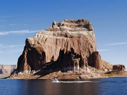 high rock at lake powell, usa, arizona