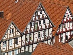 traditional truss houses in old town, germany, lower saxony, celle