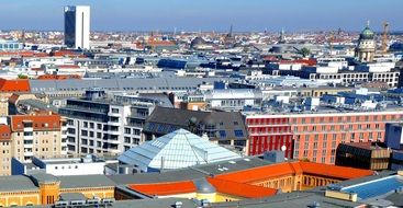 roof view of city, germany, berlin
