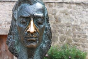 fryderyk franciszek chopin, bronze sculpture, spain, Mallorca, Valldemossa