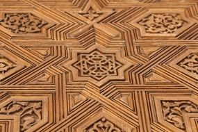 moorish pattern in alhambra palace, spain, granada