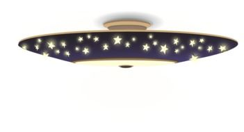 ceiling lamp with blue stars, illustration
