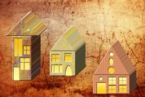 graphics of the houses